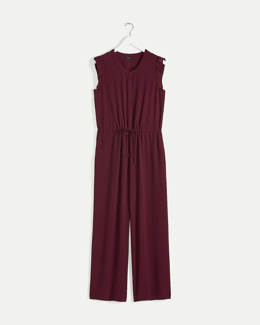 Flutter Sleeve Jumpsuit with Drawstring