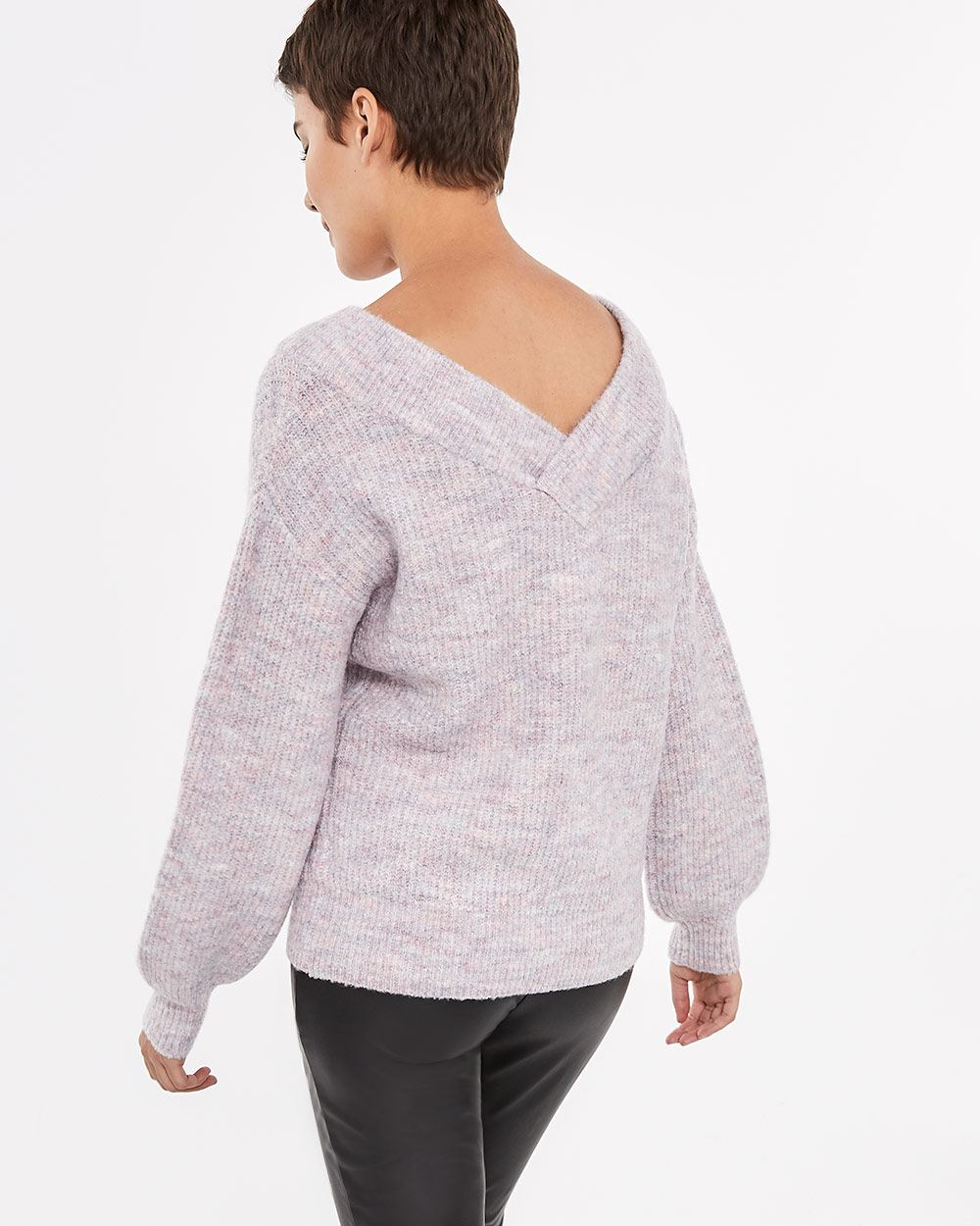 Wide V-neck Sweater