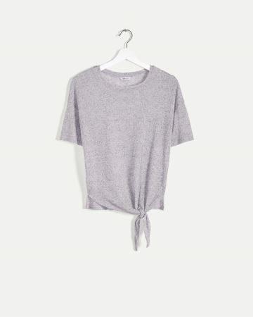 Elbow Sleeve Tee with Side Knot