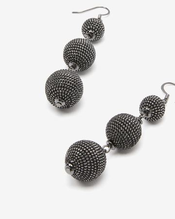 3-piece Thread Ball Earrings