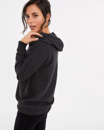 Knit Hoodie with Drawstring