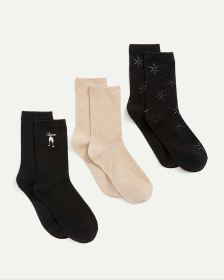 3-Pack Patterns & Solid Socks