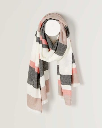 Striped Blanket Scarf