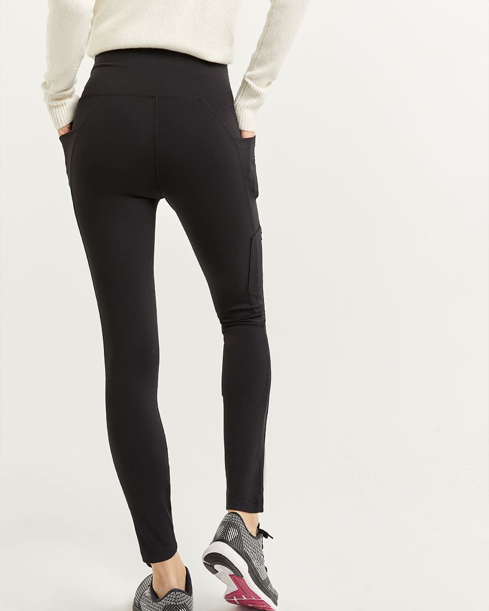 Hyba Black Cargo Ankle Leggings