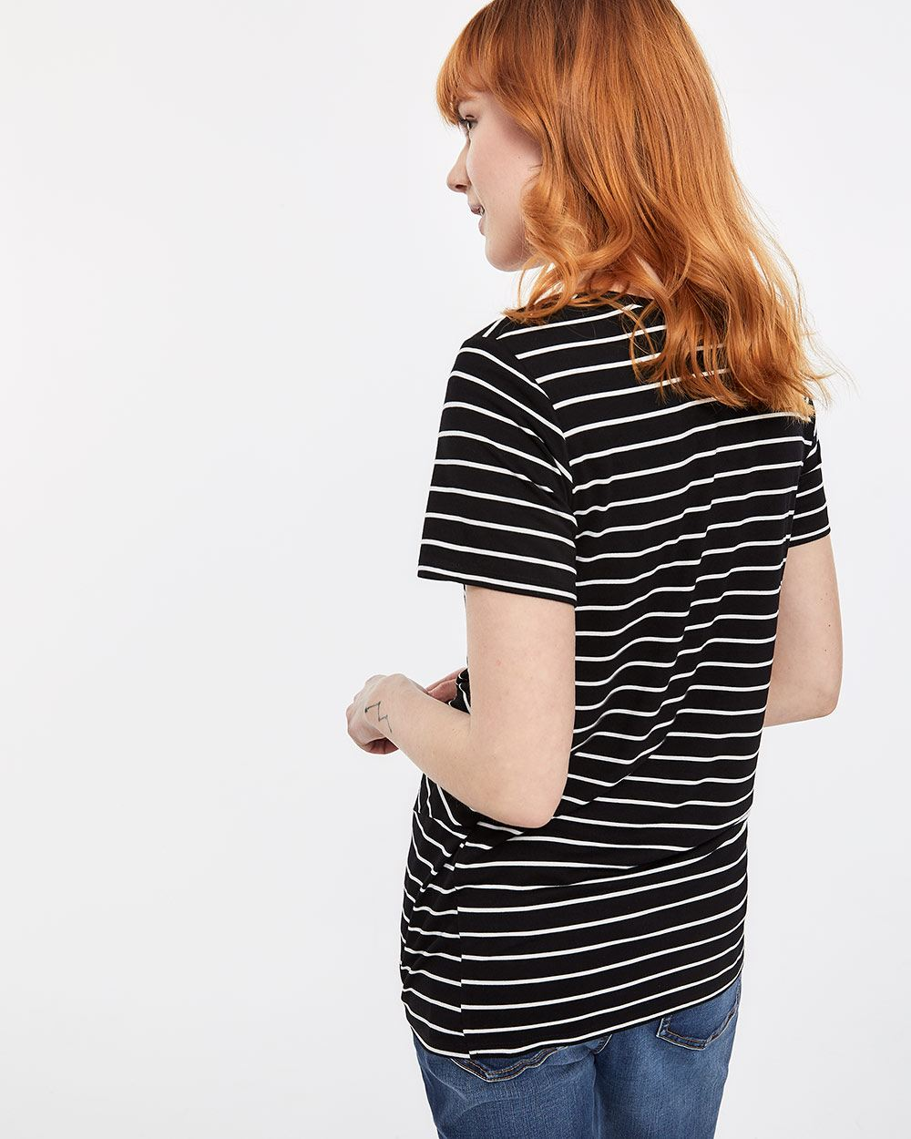 Short Sleeve Twisted Front Tee