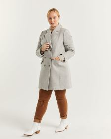 Tailored Collar Wool-Blend Peacoat