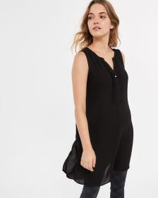 Sleeveless Tunic with Pintucks