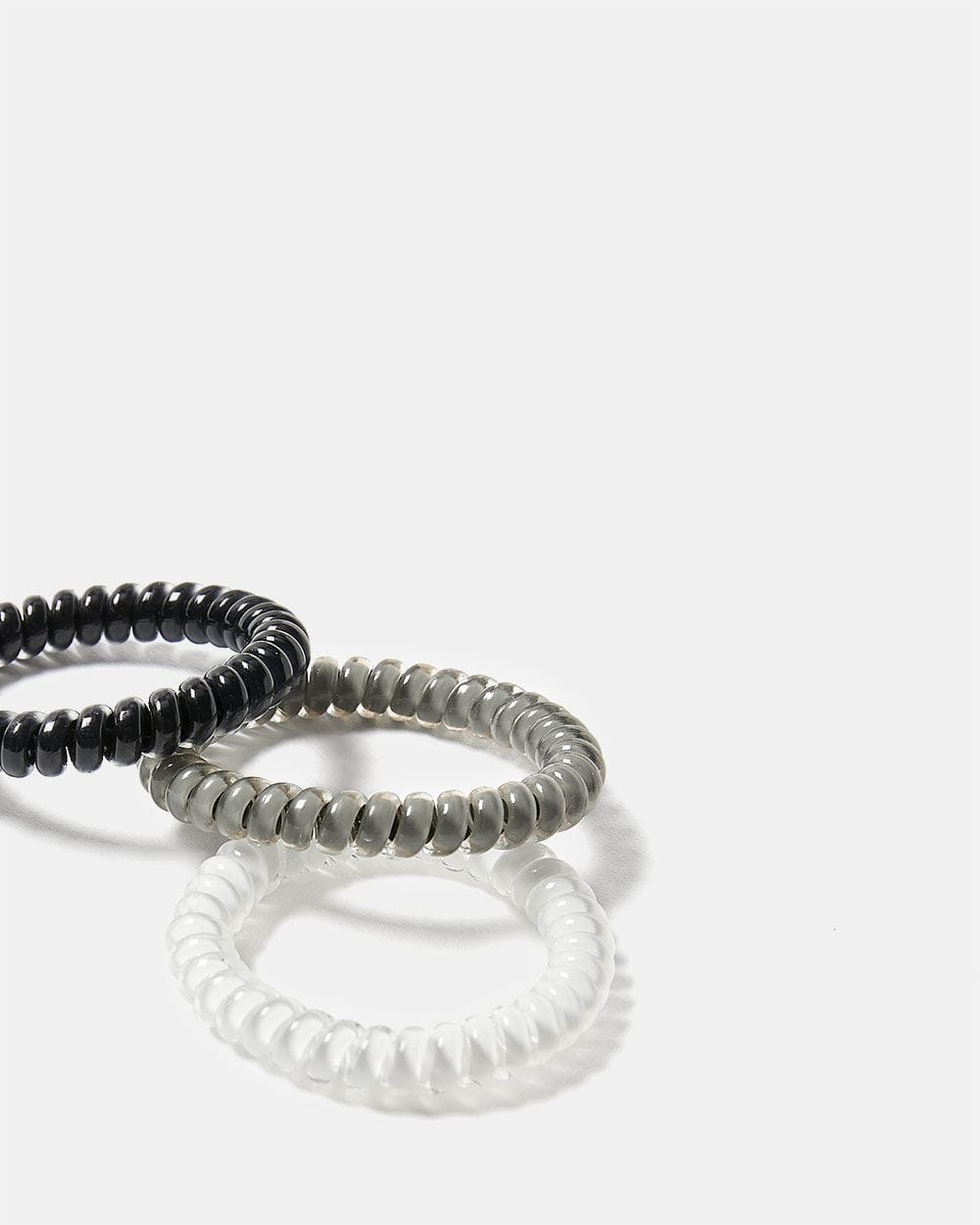 Set of 3 Coil Hair Elastics