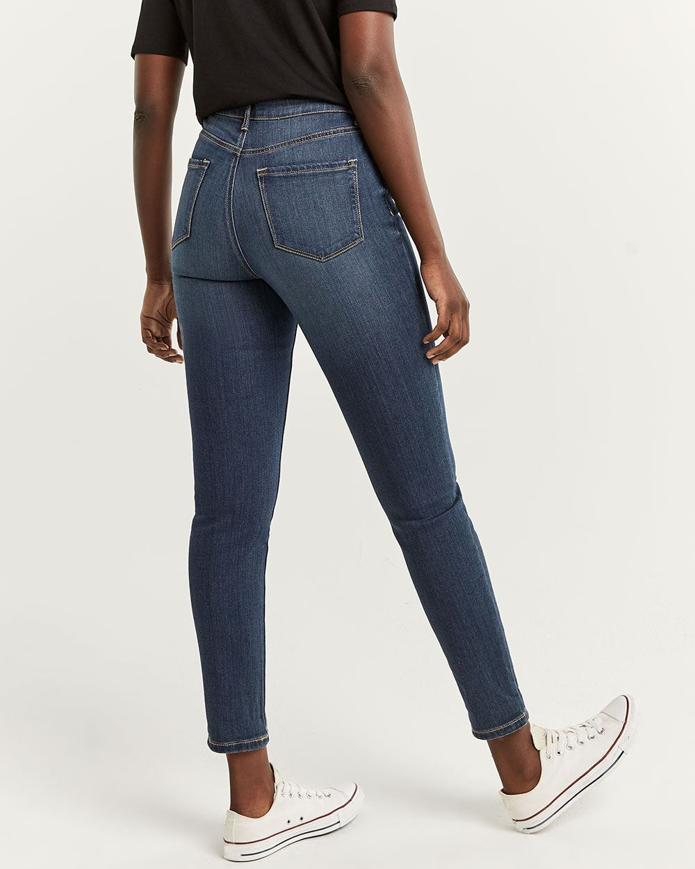 The Petite Signature Soft Skinny Mid-Wash Jeans