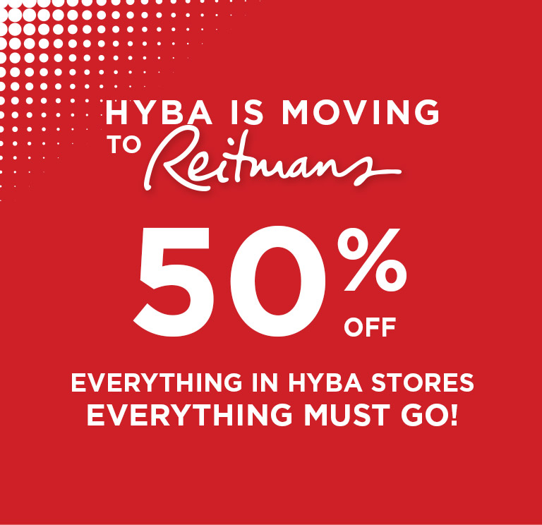Hyba is moving to Reitmans - 50% off