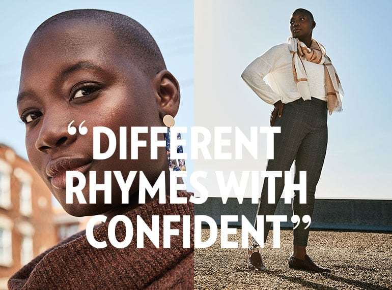 Different rhymes with confident