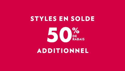 50% de rabais additionnel