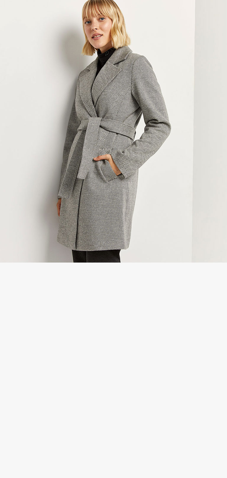 Two-Button Belted Coat