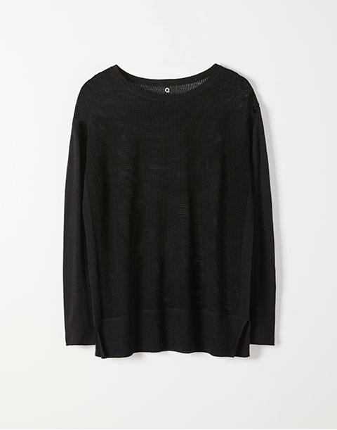 Hyba Long Sleeve Open Stitch Sweater