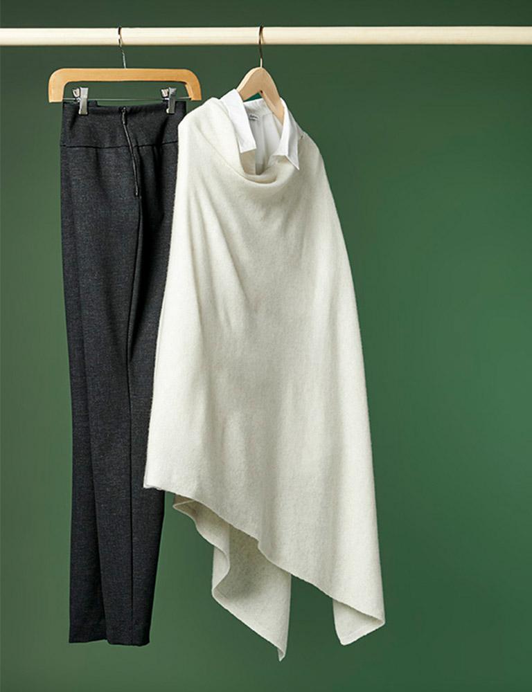cashmere-blend poncho