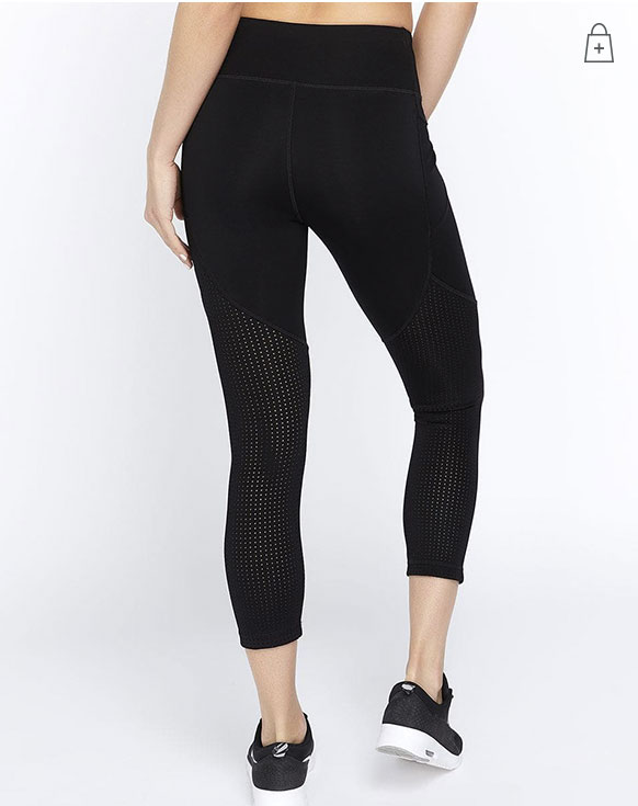 Cropped Airtech Legging in Black