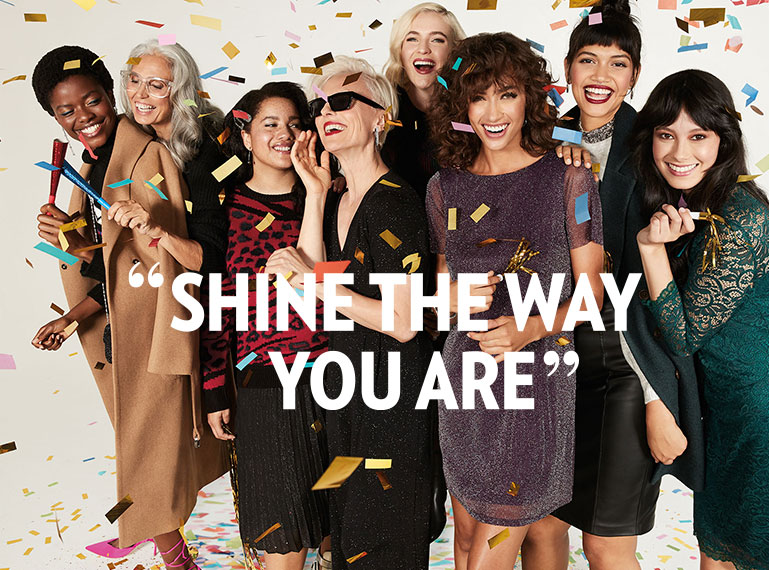 Shine the way you are.
