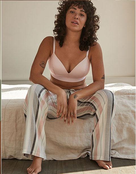 Straight leg pyjama pant