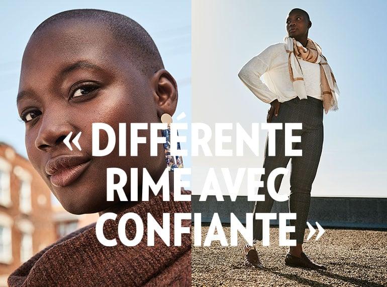 DIFFÉRENTE RIME AVEC CONFIANTE