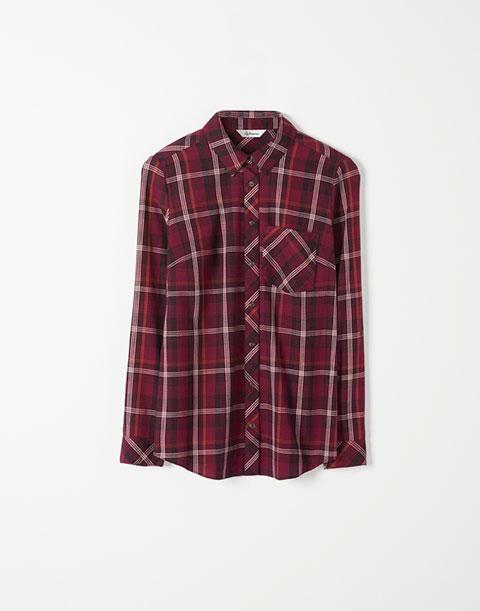 Plaid Shirt with Pocket