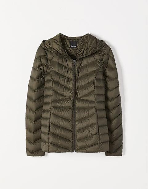 Packable Hooded Down Coat