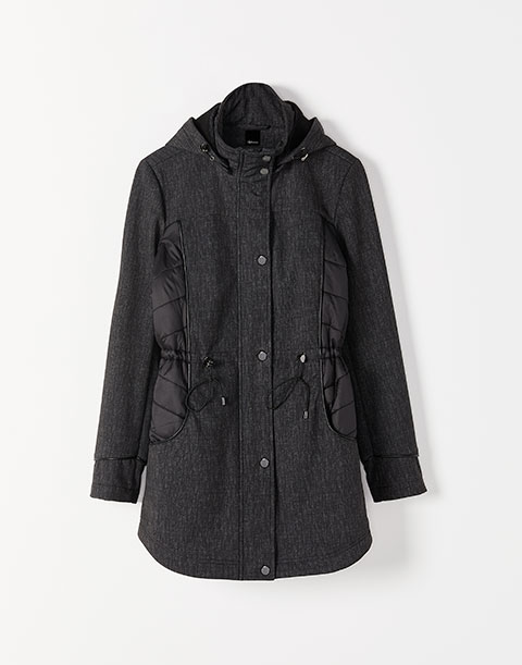 Softshell Packable Hooded Coat